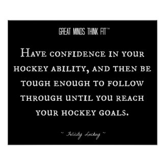 Cita del hockey para la confianza 016 poster