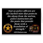 Cita del instructor de la policía felicitación