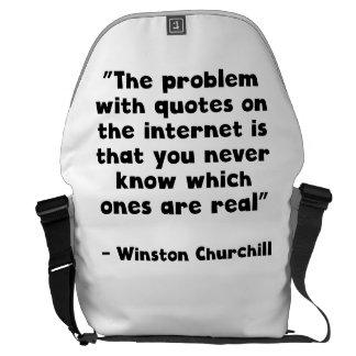 Cita del Internet de Winston Churchill Bolsa De Mensajeria