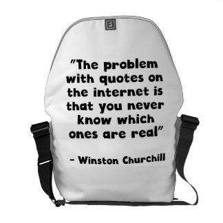Cita del Internet de Winston Churchill Bolsa De Mensajería