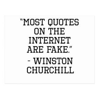 Cita del Internet de Winston Churchill Postal