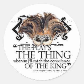 Cita del juego de Hamlet Pegatina Redonda