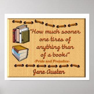 Cita del libro de Jane Austen - poster