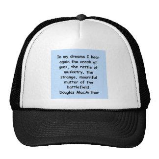 cita del macarthur de douglas gorras de camionero