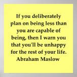 cita del maslow de Abraham Posters