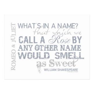 Cita del nombre de Romeo y de Juliet Postal