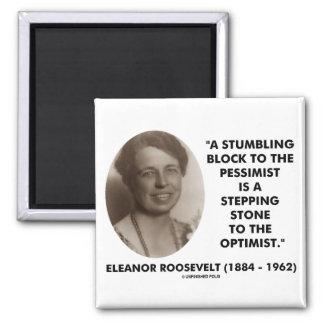 Cita del optimista del pesimista de Eleanor Roosev Imán De Frigorífico