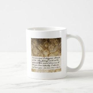Cita del orgullo y del perjuicio taza de café