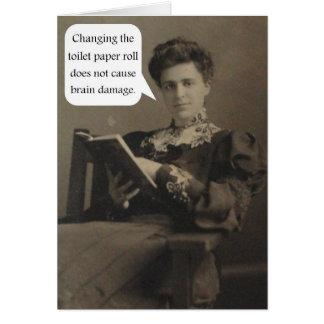Cita del papel higiénico felicitación