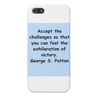 cita del patton de George s iPhone 5 Fundas