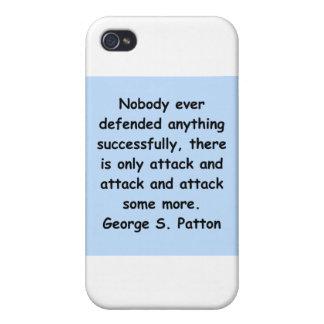cita del patton de George s iPhone 4 Carcasa