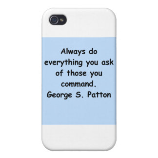 cita del patton de George s iPhone 4 Cárcasas