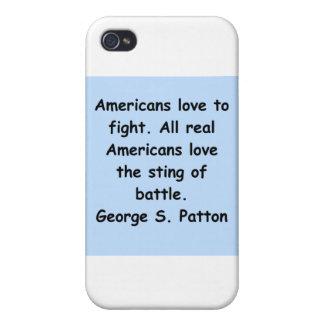cita del patton de George s iPhone 4/4S Funda