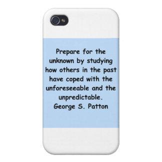 cita del patton de George s iPhone 4 Funda