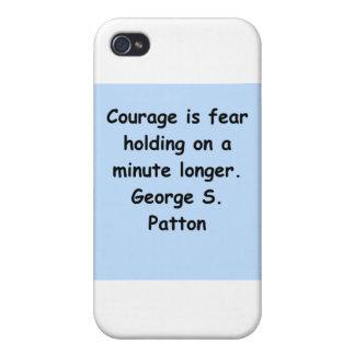 cita del patton de George s iPhone 4/4S Carcasas