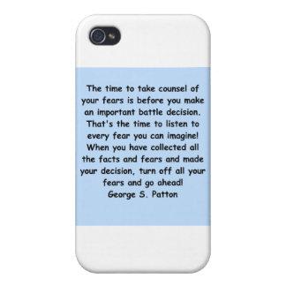 cita del patton de George s iPhone 4 Carcasas