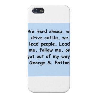 cita del patton de George s iPhone 5 Carcasas