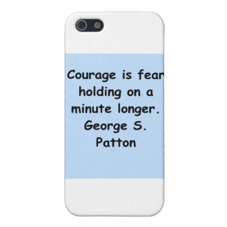 cita del patton de George s iPhone 5 Funda