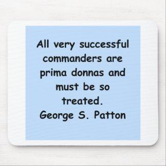 cita del patton de George s Mousepads