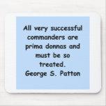 cita del patton de George s Tapetes De Ratones