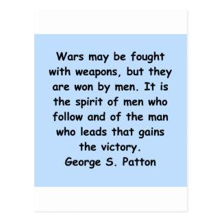 cita del patton de George s Postal