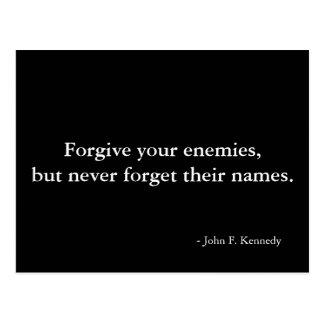 Cita del perdón - postal