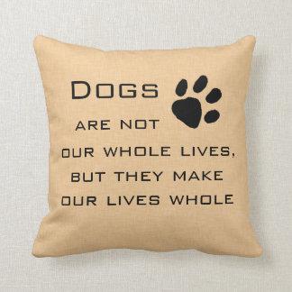 Cita del perro cojines