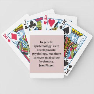 cita del piaget de la mezclilla baraja de cartas