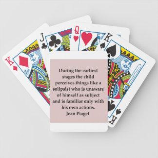 cita del piaget de la mezclilla barajas de cartas