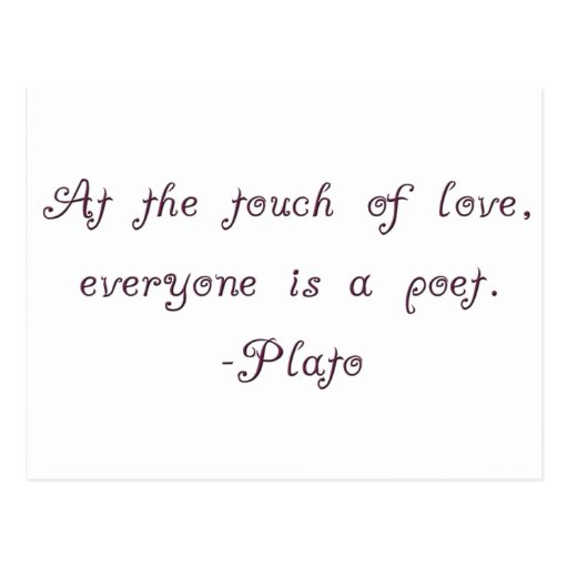 Cita del poeta del amor de Platón Tarjetas Postales
