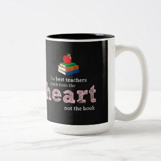 Cita del profesor taza dos tonos