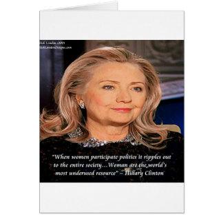 Cita del recurso de las mujeres de Hillary Tarjeta De Felicitación