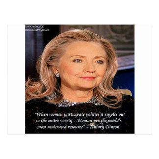 Cita del recurso de las mujeres de Hillary Tarjetas Postales