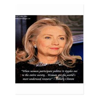 Cita del recurso de las mujeres de Hillary Postales