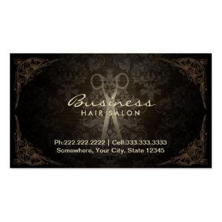 Cita del salón del estilista del damasco del tarjetas de visita