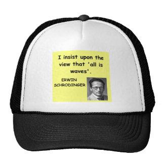cita del schrodinger gorra