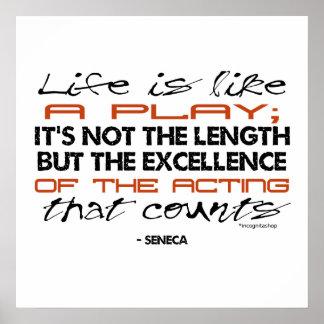 Cita del Seneca en la actuación Posters