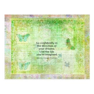 Cita del sueño de Henry David Thoreau con tema de Tarjetas Postales