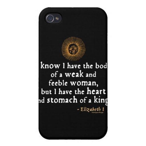 Cita del tilburí de Elizabeth I iPhone 4/4S Carcasas