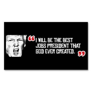 Cita del triunfo - seré el mejor presidente de los tarjetas de visita magnéticas (paquete de 25)