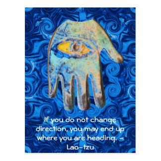 Cita del tzu del Lao y el decir espirituales de Tarjetas Postales
