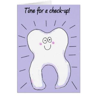 Cita dental del recordatorio de los dientes del tarjeta pequeña