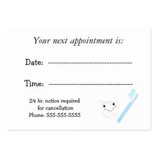 Cita dental tarjeta personal