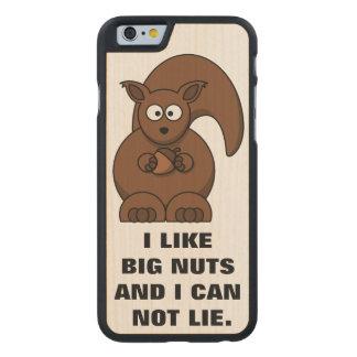 Cita divertida de la ardilla: Tengo gusto de Funda De iPhone 6 Carved® Slim De Arce