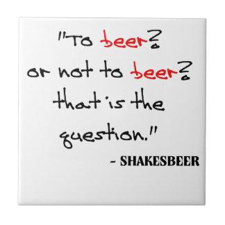 Cita divertida de la cerveza azulejo cuadrado pequeño