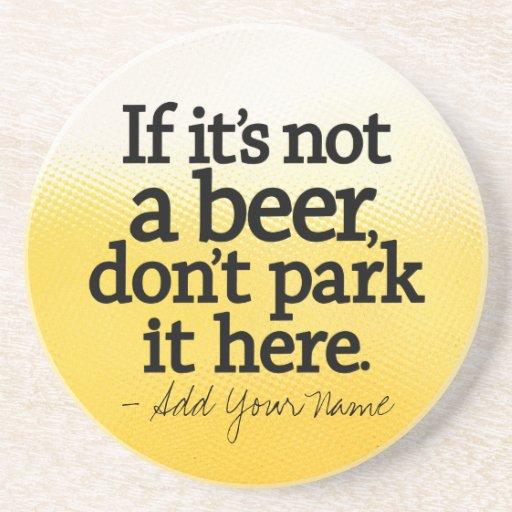 Cita divertida de la cerveza - hágale el suyo - posavasos cerveza