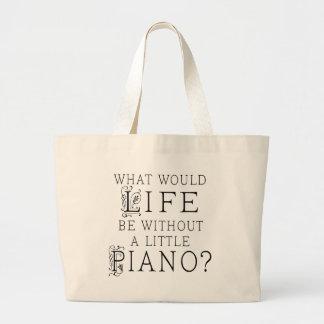 Cita divertida de la música del piano bolsa de mano