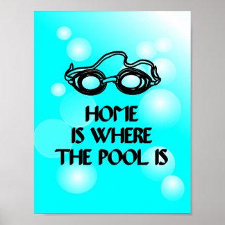 Cita divertida de la nadada - poster
