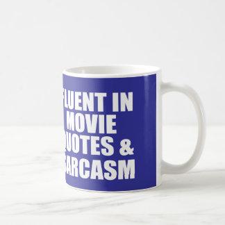 Cita divertida de la película taza básica blanca