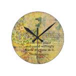 """Cita divertida de Shakespeare """"tengo gusto de este Reloj"""
